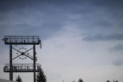 Una vieja cara del reloj en Hockenheimring