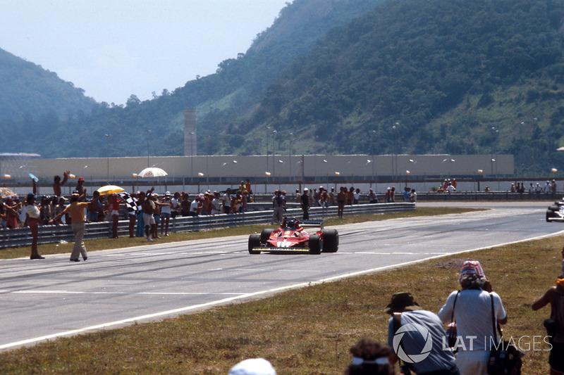 Ganador del GP de Brasil 1978: Carlos Reutemann, Ferrari 312T2