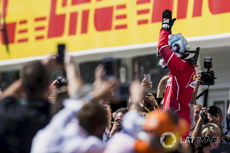 Ganador, Sebastian Vettel, Ferrari