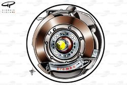 Ferrari F138 rear brake disc