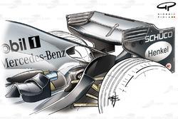 McLaren MP4-20 2005 rear wing