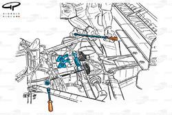 Ferrari F399 (650) 1999 torsion bar rear suspension
