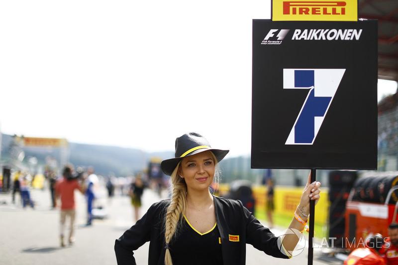 Grid Girl for Kimi Raikkonen, Ferrari
