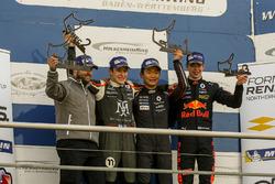 Podium race 1: Race winner Yifei Ye, Josef Kaufmann Racing, second place Sacha Fenestraz, Josef Kaufmann Racing, third place Richard Verschoor, MP Motorsport