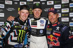Podium: winner Johan Kristoffersson, Volkswagen Team Sweden, second place Andreas Bakkerud, Hoonigan Racing Division Ford, third place Sébastien Loeb, Team Peugeot Hansen