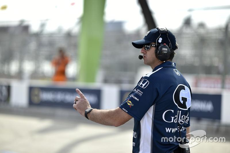 Max Chilton, Chip Ganassi Racing Honda y su jefe de equipo, Jamie Coates
