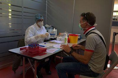 Serology test at Alpha Tauri