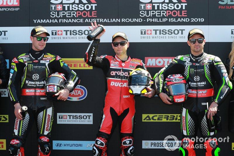 Jonathan Rea, Kawasaki Racing, Alvaro Bautista, Aruba.it Racing-Ducati Team, Leon Haslam, Kawasaki Racing