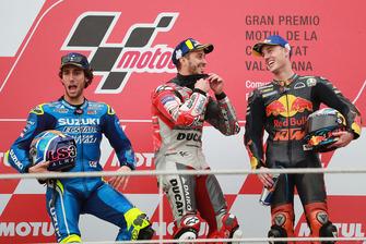 Podium: 1. Andrea Dovizioso, 2. Alex Rins, 3. Pol Espargaro