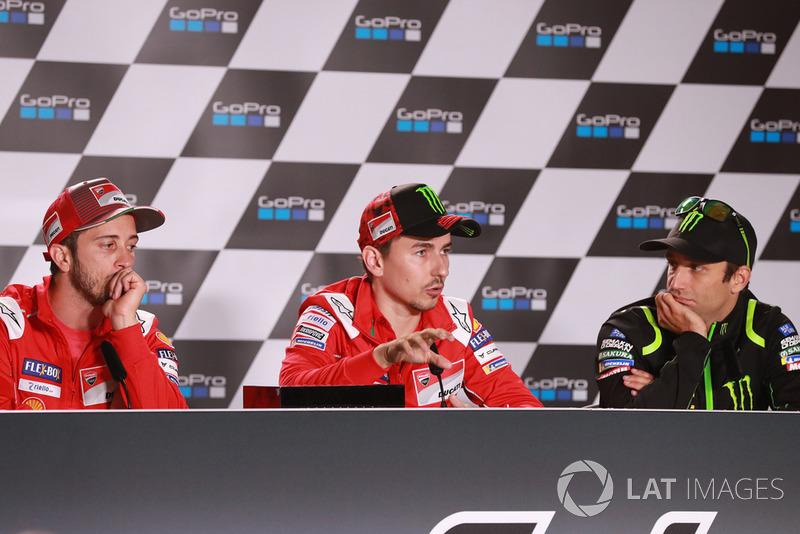 Andrea Dovizioso, Ducati Team, Jorge Lorenzo, Ducati Team, Johann Zarco, Monster Yamaha Tech 3