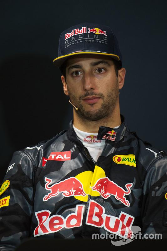 Daniel Ricciardo, Red Bull Racing, lors de la conférence de presse FIA