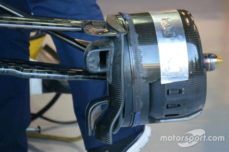 Detail vordere Bremse, Sauber C35
