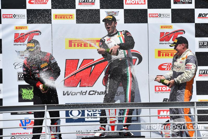 Podium GTA: 1. Martin Fuentes, Scuderia Corsa; 2. Michael Schein, Wright Motorsports; 3. Drew Regitz