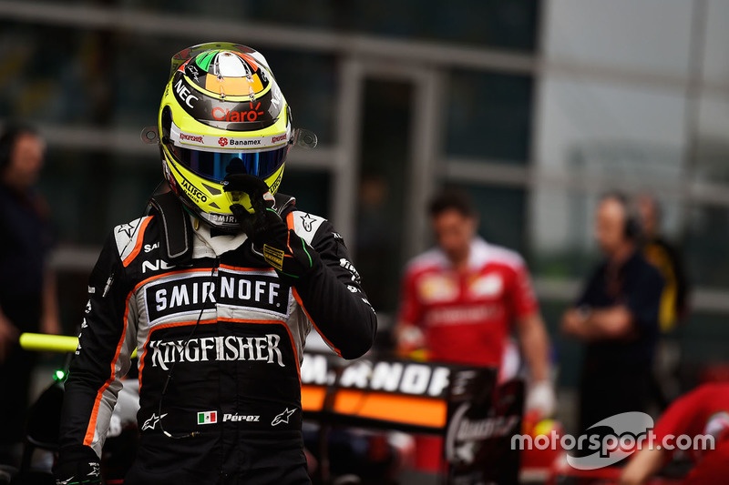 Sergio Pérez, Sahara Force India F1 VJM09 en parc ferme