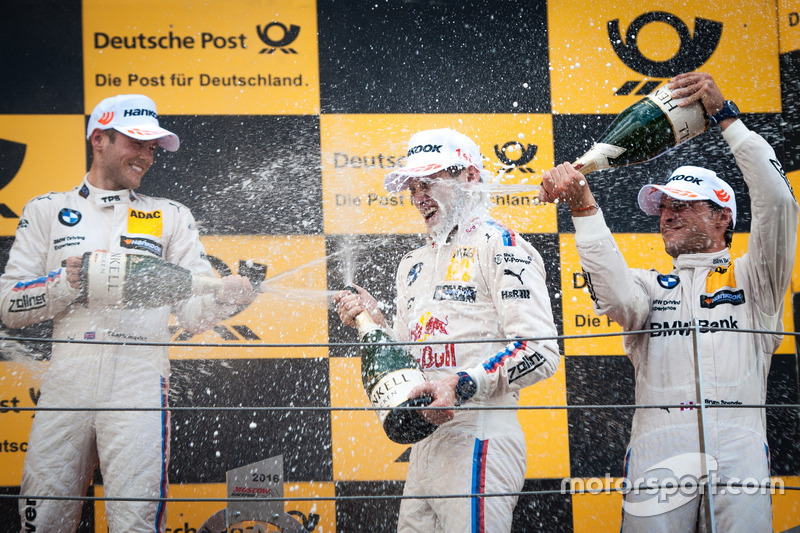 Podio: Tom Blomqvist, BMW Team RBM, BMW M4 DTM; Marco Wittmann, BMW Team RMG, BMW M4 DTM; Bruno Spengler, BMW Team MTEK, BMW M4 DTM