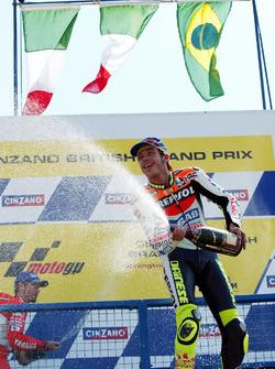 Podium: winner Valentino Rossi, Honda Team