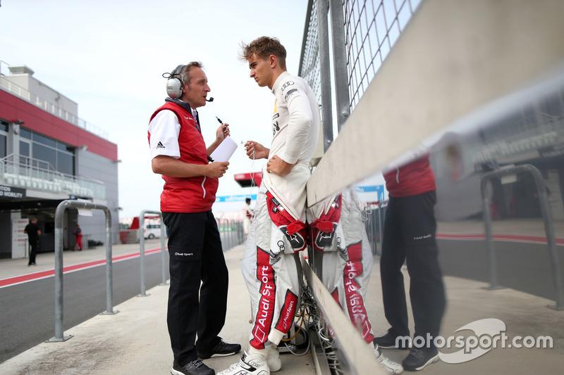 Nico Müller, Audi Sport Team Abt Sportsline, Audi RS 5 DTM; Daniel Grunwald, Renningenieur
