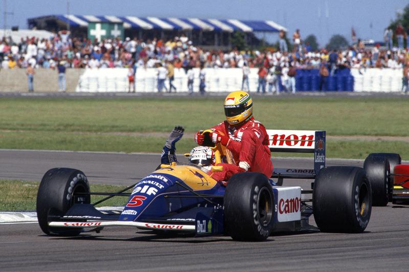 Silverstone 1991: Nigel Mansell (Williams) lleva a Ayrton Senna (McLaren)