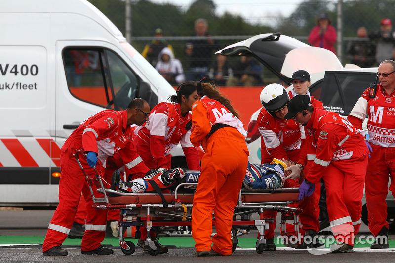 Loris Baz, Avintia Racing after his crash