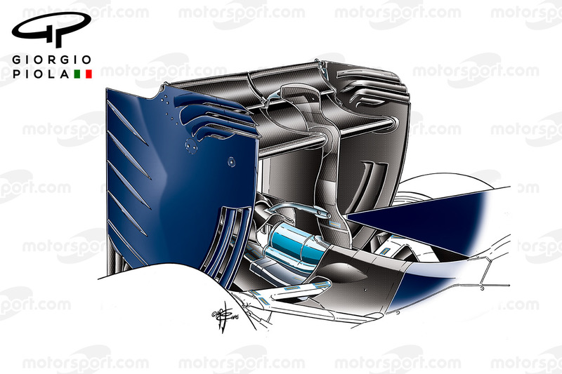 L'aileron arrière de la Toro Rosso STR11, lors des essais hivernaux de Barcelone