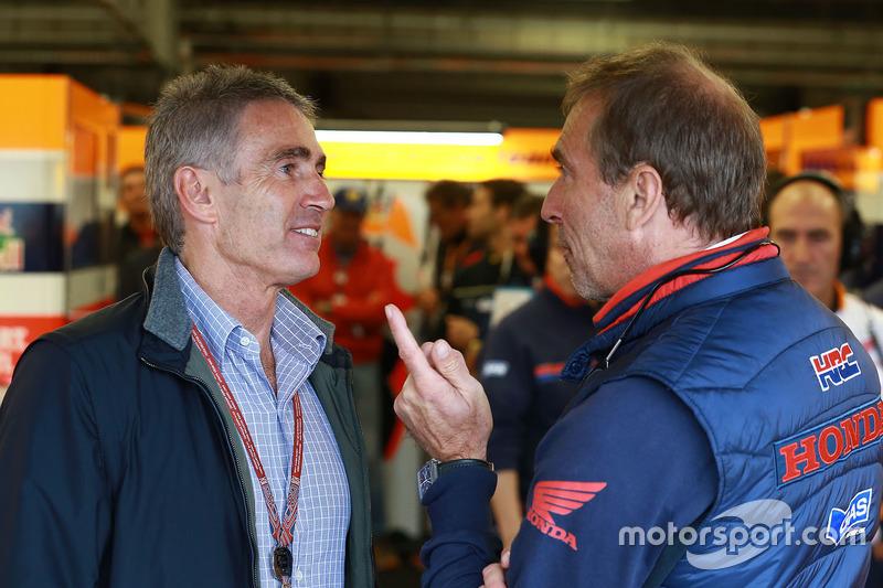 Mike Doohan e Livio Suppo, Team Principal Repsol Honda Team