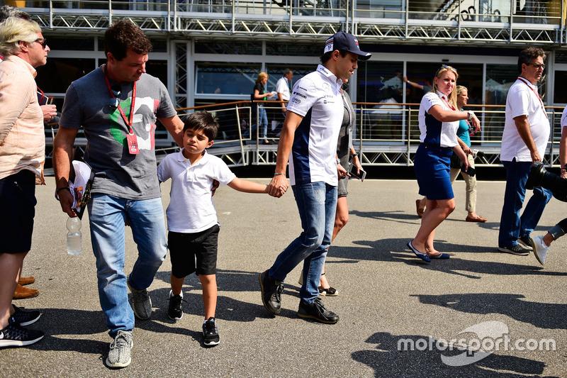 Felipe Massa, Williams ve oğlu Felipinho Massa,
