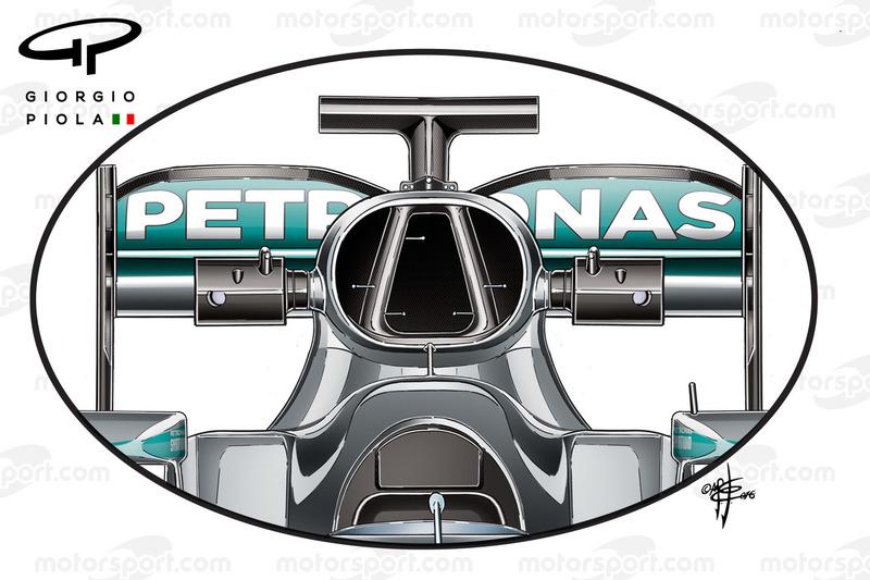 Mercedes W07 airbox