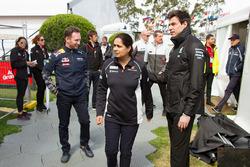 Monisha Kaltenborn, Sauber Teamchef, Christian Horner, Red Bull Racing Teamchef und Toto Wolff, Mercedes AMG F1 Motorsportchef