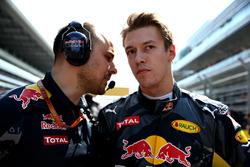 Daniil Kvyat, Red Bull Racing op de grid