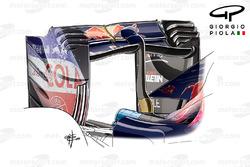 Aileron arrière incurvé de la Toro Rosso STR11