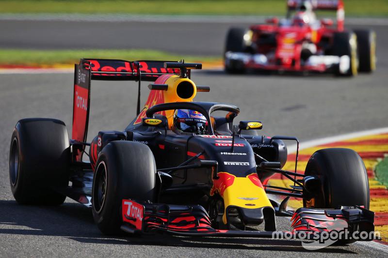 Ricciardo in actie met de cockpitbescherming