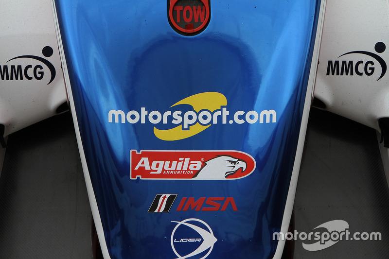 Логотип Motorsport.com  на машині #32 United Autosports Ligier LMP2: Вілл Оуен, Бруно Сенна, Пол ді Реста, Уго де Заделер