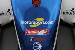 Логотип Motorsport.com на машині #32 United Autosports Ligier LMP2: Вілл Оуен, Бруно Сенна, Пол ді
