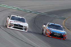 Kyle Busch, Joe Gibbs Racing, Toyota Camry NOS Energy Drink and Cole Custer, Stewart-Haas Racing, Ford Mustang Haas Automation