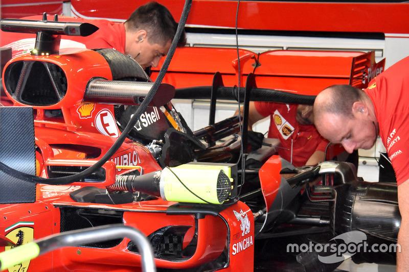 Motor del Ferrari SF71H