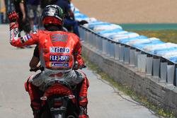 Jorge Lorenzo, Ducati Team, après l'accident