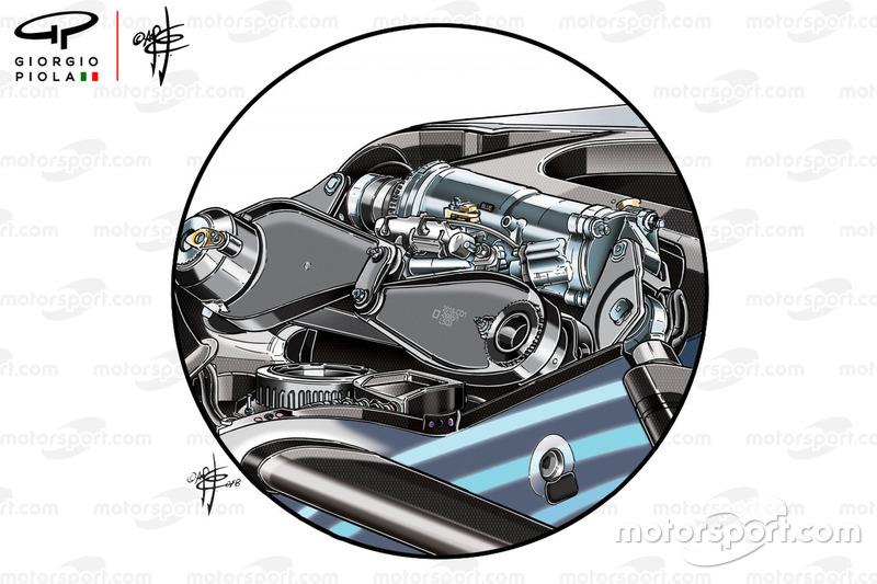 Mercedes W09, lengéscsillapító
