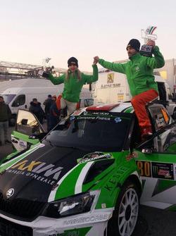 I vincitori del Gruppo R5, Andrea Crugnola e Moira Lucca, Metiorsport.it