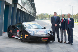 AGPC Chairman John Harnden, Ferrari Director of Commercial and Marketing Louis Colmache, AGPC CEO Andrew Westacott