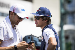 Esteban Ocon, Force India et Lance Stroll, Williams Racing