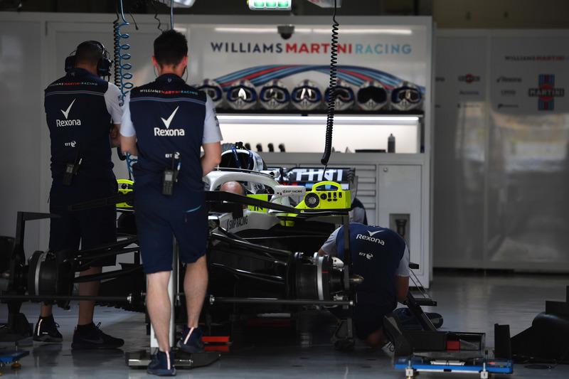 Williams FW41 di garasi