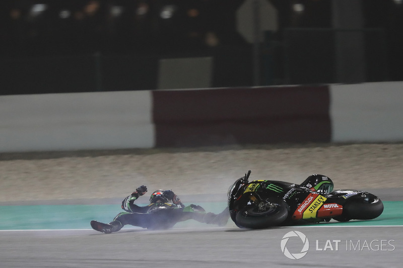 Choque de Johann Zarco, Monster Yamaha Tech 3