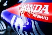 Логотип Honda на автомобиле Scuderia Toro Rosso STR13