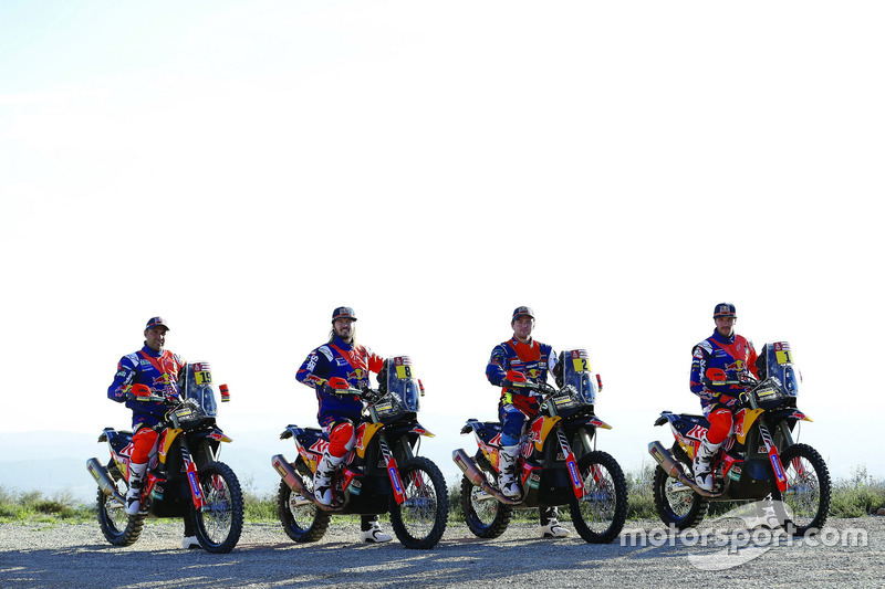Sam Sunderland, Toby Price, Matthias Walkner, Matthias Walkner, Red Bull KTM Factory Team