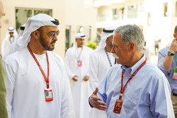 HH General Sheikh Mohammed bin Zayed bin Sultan Al Nahyan, Crown Prince of Abu Dhabi  and Chase Carey, Chief Executive Officer and Executive Chairman of the Formula One Group