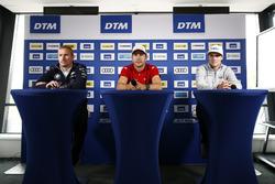 Press Conference: Maxime Martin, BMW Team RBM, BMW M4 DTM, Mike Rockenfeller, Audi Sport Team Phoenix, Audi RS 5 DTM, Lucas Auer, Mercedes-AMG Team HWA, Mercedes-AMG C63 DTM