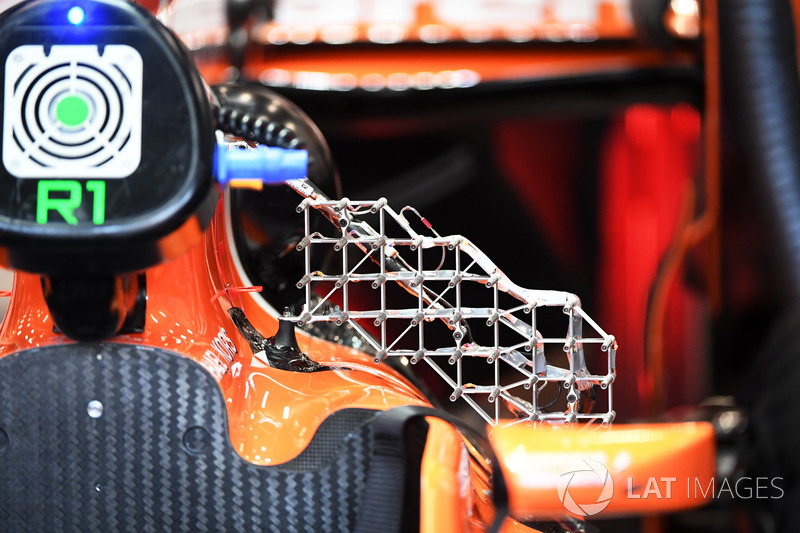 Aero sensor on the McLaren MCL32