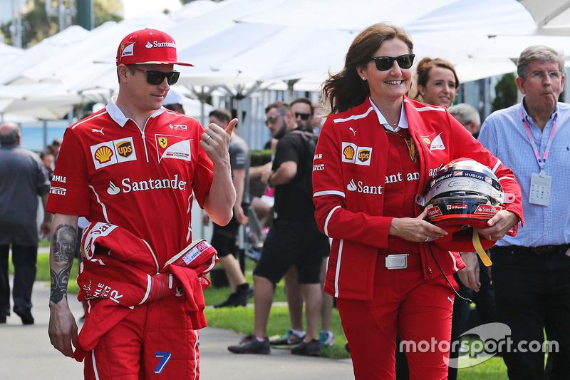 Kimi Raikkonen, Ferrari con Stefania Bocchi, Ferrari oficial de prensa