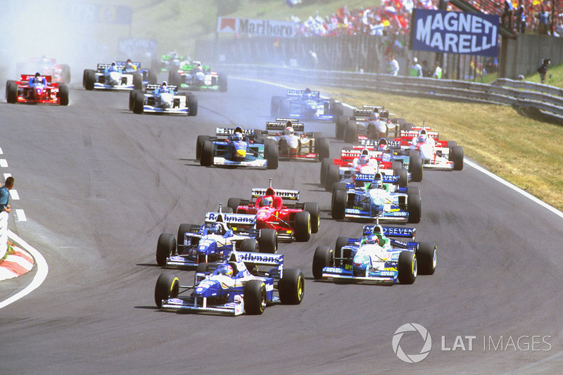 Jacques Villeneuve, Williams FW18 Renault lidera sobre Damon Hill, Williams FW18 Renault