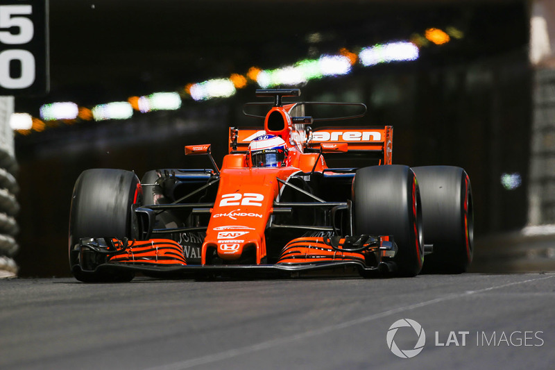 jenson button, mclaren mcl32 at monaco gp